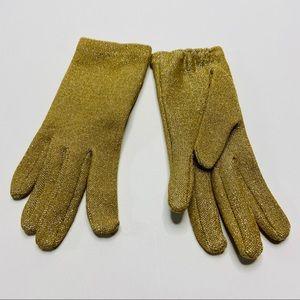 Accessories - Vtg 50s Gold Metallic Evening Gloves Helenca XS/S